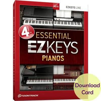 Toontrack EZkeys Essential Pianos Bundle Download Card - EZkeys Software Combined With Four Essentia