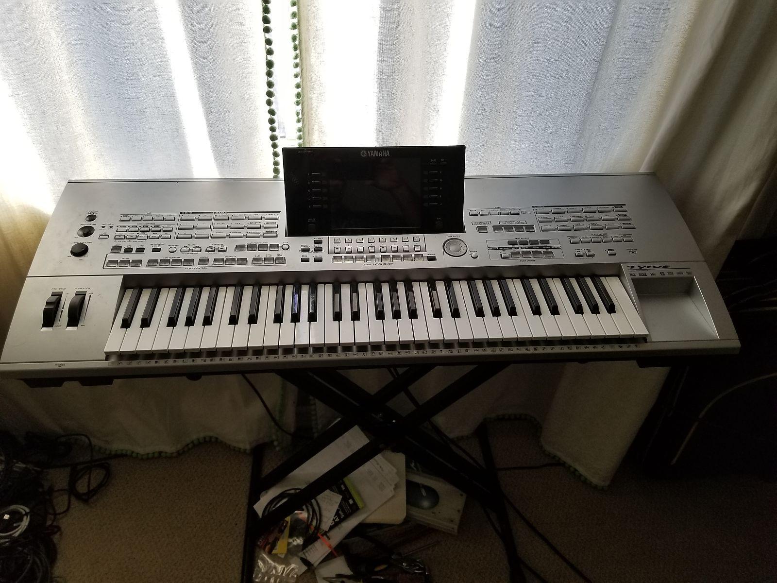 yamaha tyros 1 61 key arranger workstation keyboard reverb. Black Bedroom Furniture Sets. Home Design Ideas