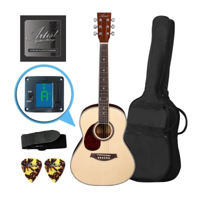Artist LSP34L 3/4 Left Hand Beginner Acoustic Guitar Pack - Natural for sale