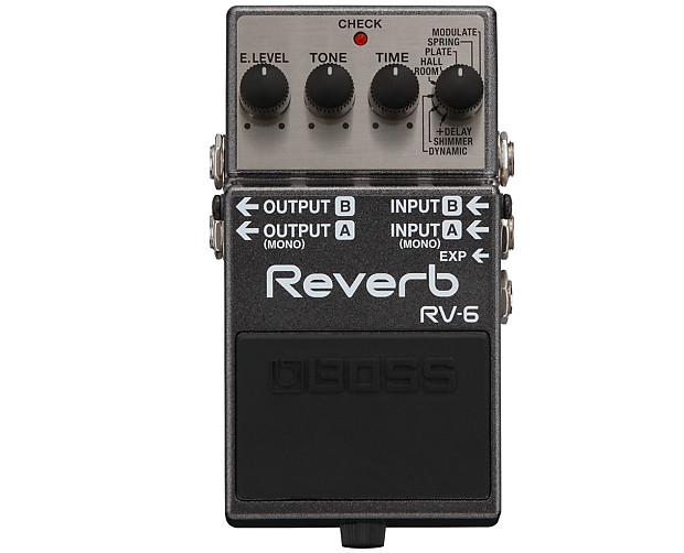 boss rv 6 digital reverb delay pedal used reverb. Black Bedroom Furniture Sets. Home Design Ideas