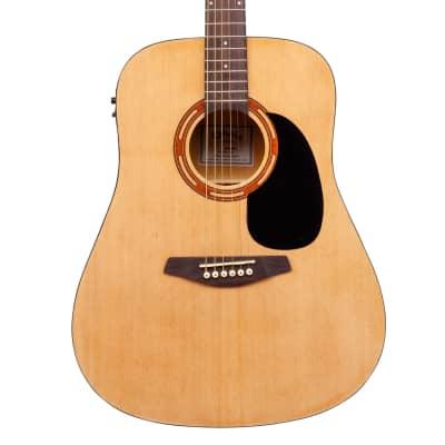 Kohala KG100SE Full Size Acoustic Guitar Natural w/ Pickups/Tuner & Bag for sale
