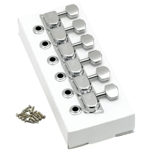 Genuine Fender® 099-0822-100 6 inline chrome 'F' 70's Style tuners
