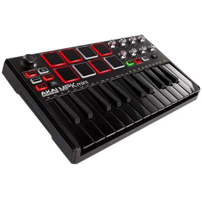 Akai MPK Mini MKII MK2 Laptop Keyboard Controller Special Edition Black on Black