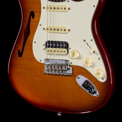 Fender Rarities Flame Maple Top Stratocaster HSS Thinline (518)