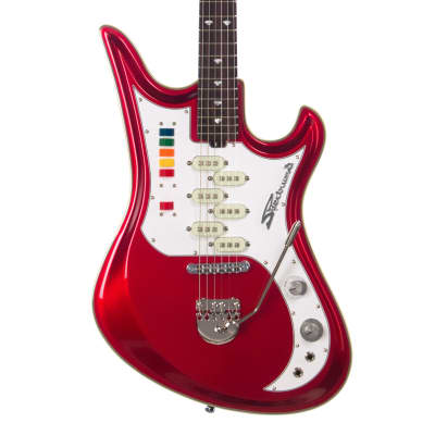 Eastwood Guitars TDR Series Spectrum 5 PRO - Metallic Red - Teisco Tribute Model Offset Electric for sale