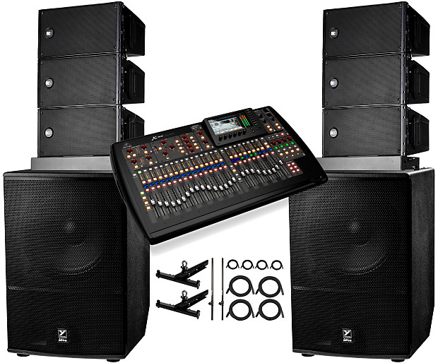 RCF 6x RCF HDL 6-A Line Array + X32 Mixer + 2x Yorkville ES18P Subwoofers +  FLYBARS