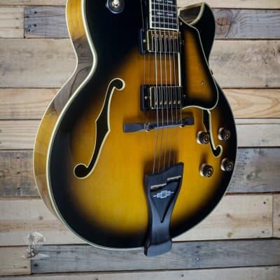 Ibanez George Benson LGB300 Hollowbody Guitar Vintage Yellow Sunburst w/ Case