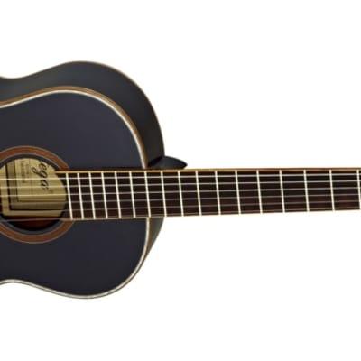 Ortega Family Series Gloss 3/4 Size Black Acoustic Guitar Spruce for sale