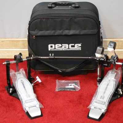 Peace Double Bass Pedal Double Chain Drive with Case