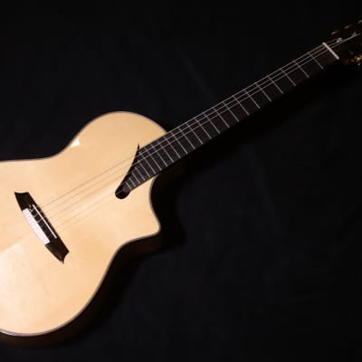 Martinez MSCC-14MS SOLID spruce/Flame Maple nylon string guitar for sale