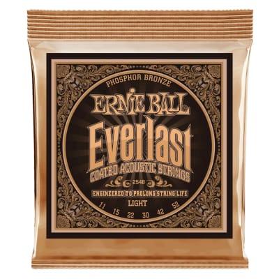 Ernie Ball Everlast Light Coated 2548 Phosphor Bronze Acoustic Guitar Strings