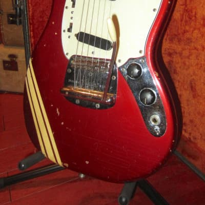Vintage 1971 Fender Mustang Competition Red