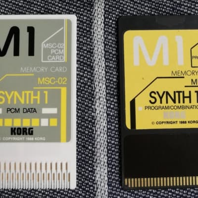 Korg M1/M1R SYNTH 1 Sound Card Set (MPC-02 + MSC-02)