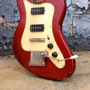 MURPH SQUIRE ii-T 1965 Aged Candy Apple Red. Offset Guitar Styled after Jaguar and Strat. ULTRA RARE for sale