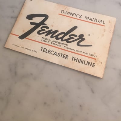 1975 Fender Telecaster Thinline Instructions Manual Complete W/ Warranty Case Candy