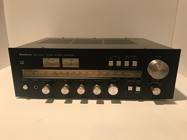 Delicieux Sankyo SRC 4040 1978 Black Cabinet Vintage AM/FM Stereo Receiver With  Dedicated Phono And Aux