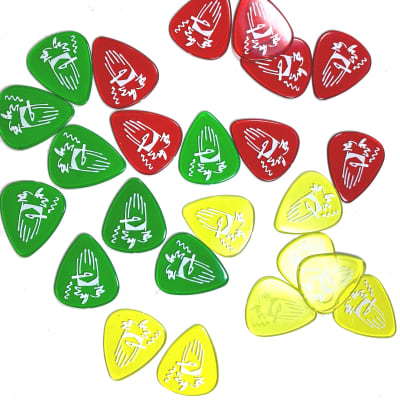 Dunlop RWR01XH Billy Gibbons / Reverend Willy's Mexican Lottery Extra Heavy Gel Guitar Picks (24-Pack)
