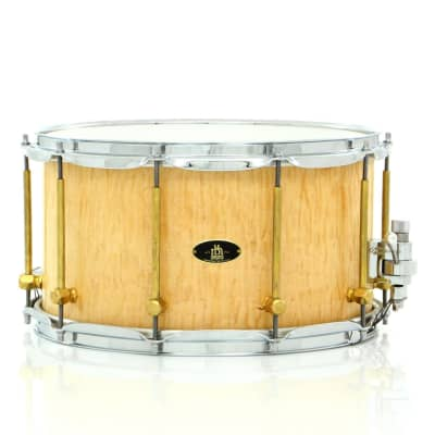 """RBH Drums 14"""" x 8"""" MONARCH Snare Drum With Curly Maple Outer Veneer - Open Box"""