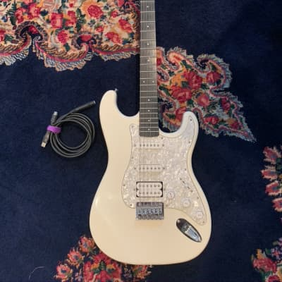 Fretlight Electric Guitar with Built-In Lighted Learning System White for sale