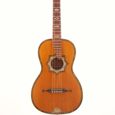 Johann Georg Stauffer style romantic guitar ~1890 - gorgeous decorations and noble sound for sale
