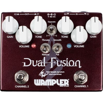 Wampler Dual Fusion Tom Quayle Overdrive Pedal for sale