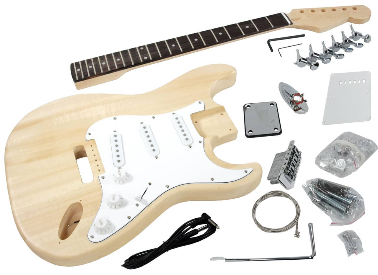diy stratocaster electric guitar kit strat style basswood reverb. Black Bedroom Furniture Sets. Home Design Ideas
