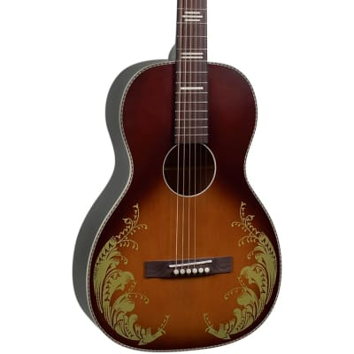 """Recording King RPS-7L-TS Dirty 30's Series 7 Limited Edition """"Lily of the Valley"""" Single-0 Tobacco Sunburst with Graphic"""