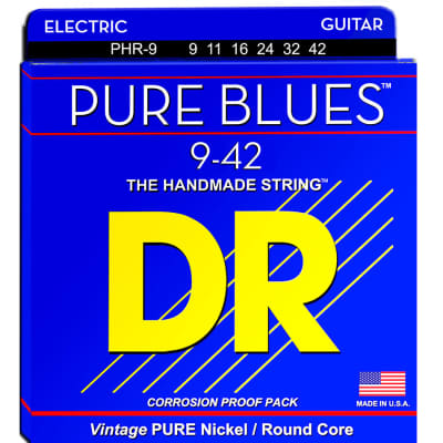 DR Strings Pure Blues Lite Electric Guitar Strings, 9-42