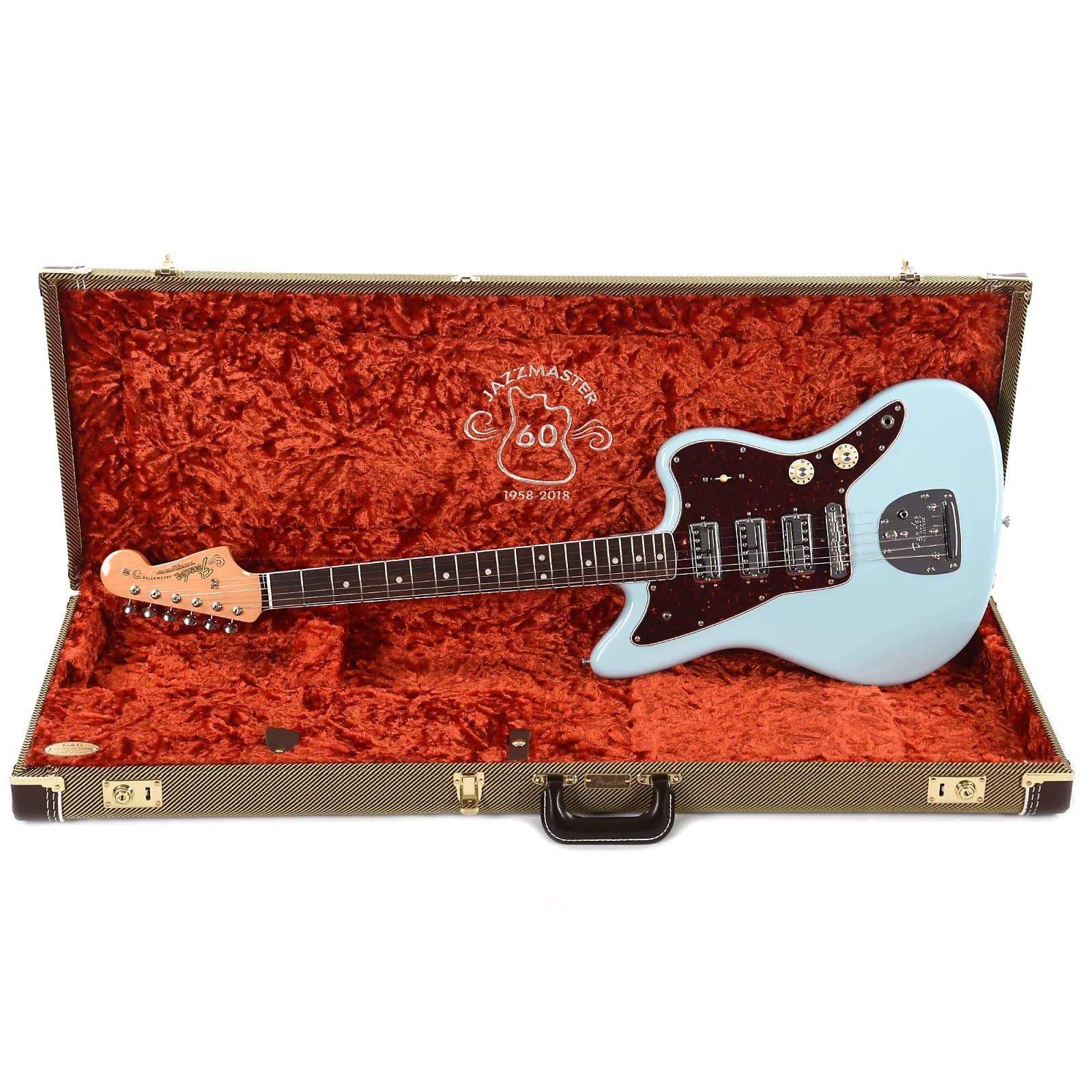 Fender 60th Anniversary Limited Edition Triple Jazzmaster Daphne Blue Wiring Diagram 50 S 199999