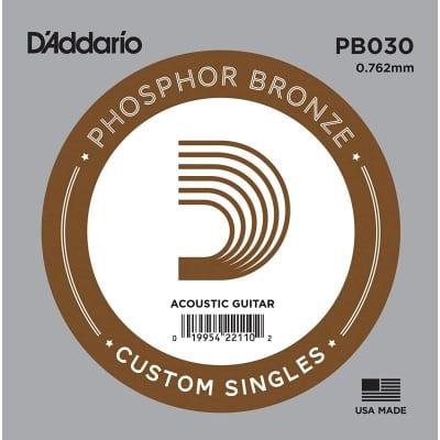 D'Addario Phosphor Bronze Acoustic Single String PB030