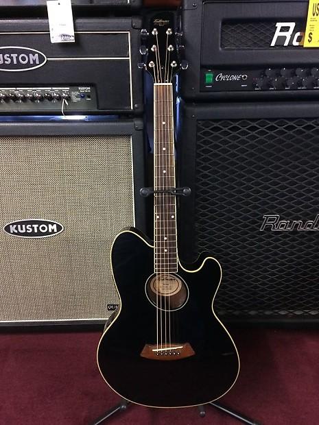 Ibanez Talman Gloss Black Acoustic Electric Guitar Profrev Reverb