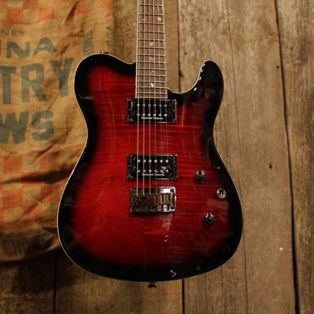 Fender Special Edition Custom Tele HH [Flame Maple] [Black Cherry Busrt] image