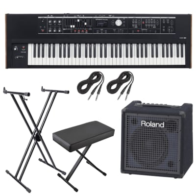 ROLAND V-COMBO VR-730 PERFORMANCE KEYBOARD STAGE RIG + Roland KC-80 3-Channel, Mixing Keyboard Amplifier