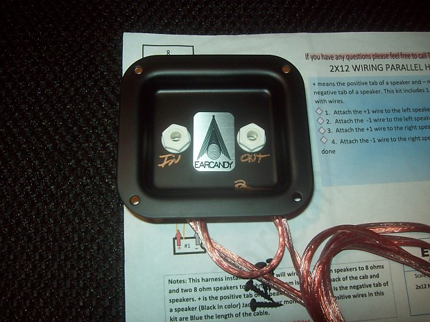 earcandy 2x12 guitar speaker cab parallel wiring harness w