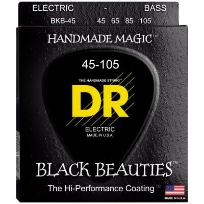 DR Strings BKB-45 45-105 4str Black Beam Bass Strings