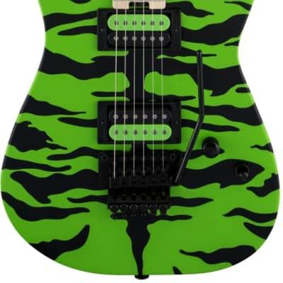 Charvel Satchel Signature Pro-Mod DK - Maple Fingerboard, Slime Green Bengal