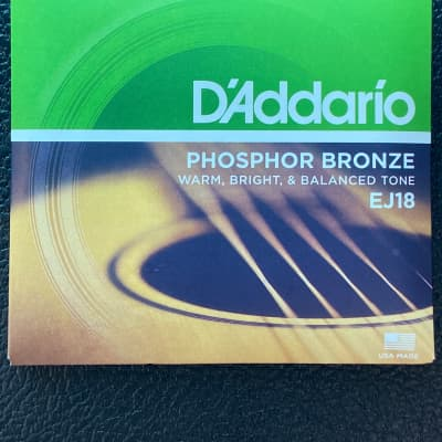 D'Addario EJ18 Phosphor Bronze Acoustic Guitar Strings, Heavy Gauge Standard