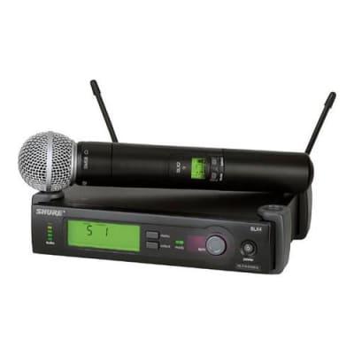 Shure SLX24/BETA58-J3 Wireless Microphone System (J3/572-596 MHz), Includes SLX4 Receiver, SLX2 Handheld Transmitter and Beta 58 Microphone