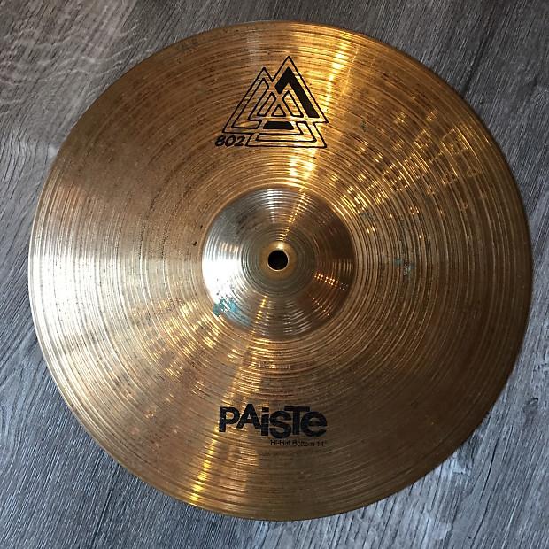 Used Paiste 802 Hi Hat Bottom Cymbal 14  64a2912bbee1