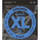 D'Addario ECG25 Chromes Flat Wound Light Electric Guitar Strings (12-52) image