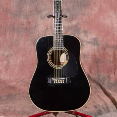 Goya 12 String 70's Black Made in Korea acoustic for sale