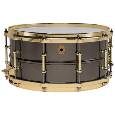 "Ludwig LB417BT ""Brass On Brass"" Black Beauty 6.5x14"" Snare Drum with Brass Hardware"