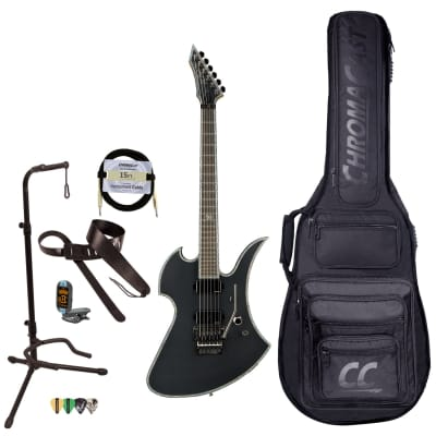 BC Rich Guitars Mockingbird Extreme Electric Guitar with Floyd Rose, Case, Strap, and Stand, Matte Black for sale