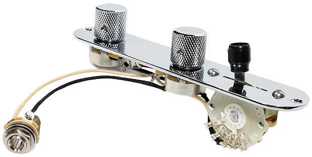 fender tele telecaster 4 way control plate w oak grigsby switch cts pots