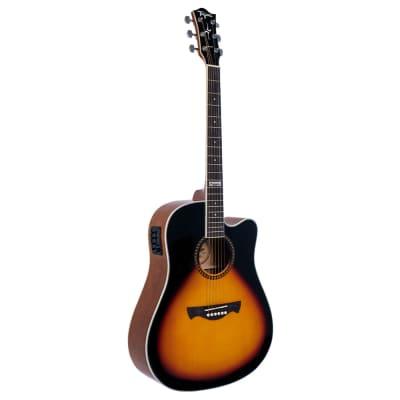 Tagima Kansas EQ A Acoustic Electric Guitar, Okoume Top, Drop Sunburst for sale