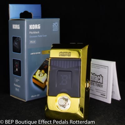 Korg PB-01 Gold Limited Edition Chromatic Tuner s/n 299309