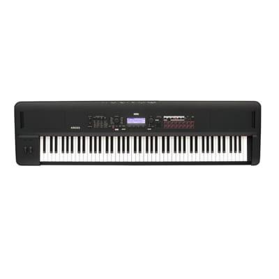 Korg Kross 2-88-MB Synthesizer Workstation Hammer Action 88 Key Matte Black