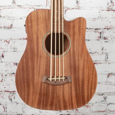 """Gold Tone M-Bass25/FL Micro 25"""" Scale Fretless Acoustic/Electric Bass Natural"""