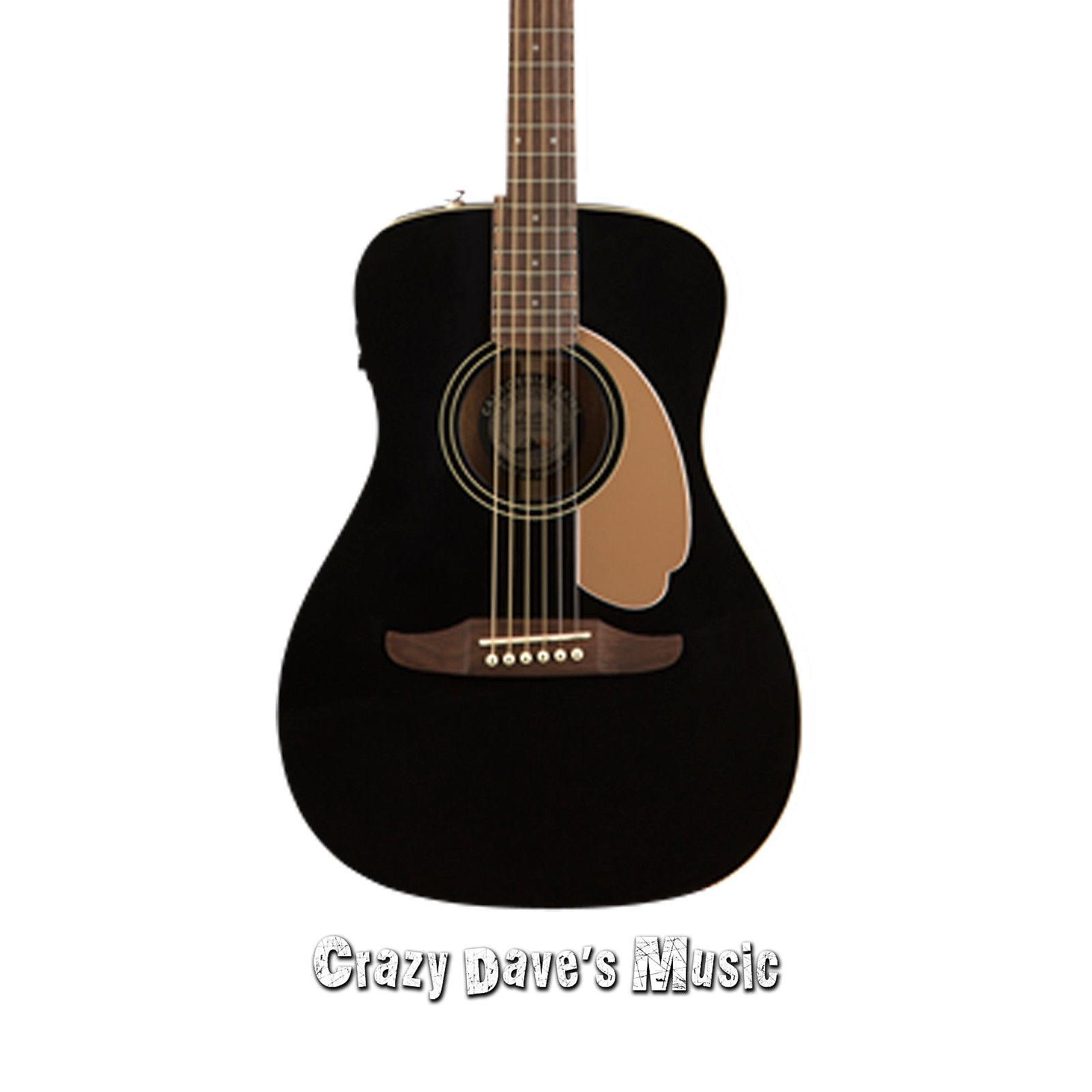 Fender Malibu Player JTB WN Jetty Black Acoustic Electric Guitar