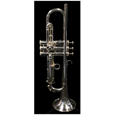 Vintage F.E. Olds Mendez Fullerton Trumpet; Ryan Kisor,  Silver Plated w/ Engraving